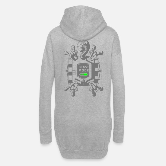 Beast Mode Hoodies & Sweatshirts - beast mode on - Women's Hoodie Dress heather grey
