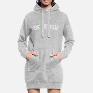 Kush kush og weed hemp smoking cannabis - Women's Hoodie Dress