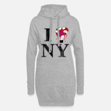 Ny I love NY - Women's Hoodie Dress
