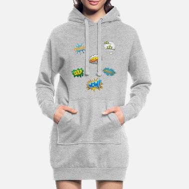 Comic Comic-Snacks - Frauen Hoodiekleid