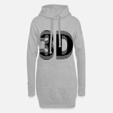 3d 3D black - Women's Hoodie Dress
