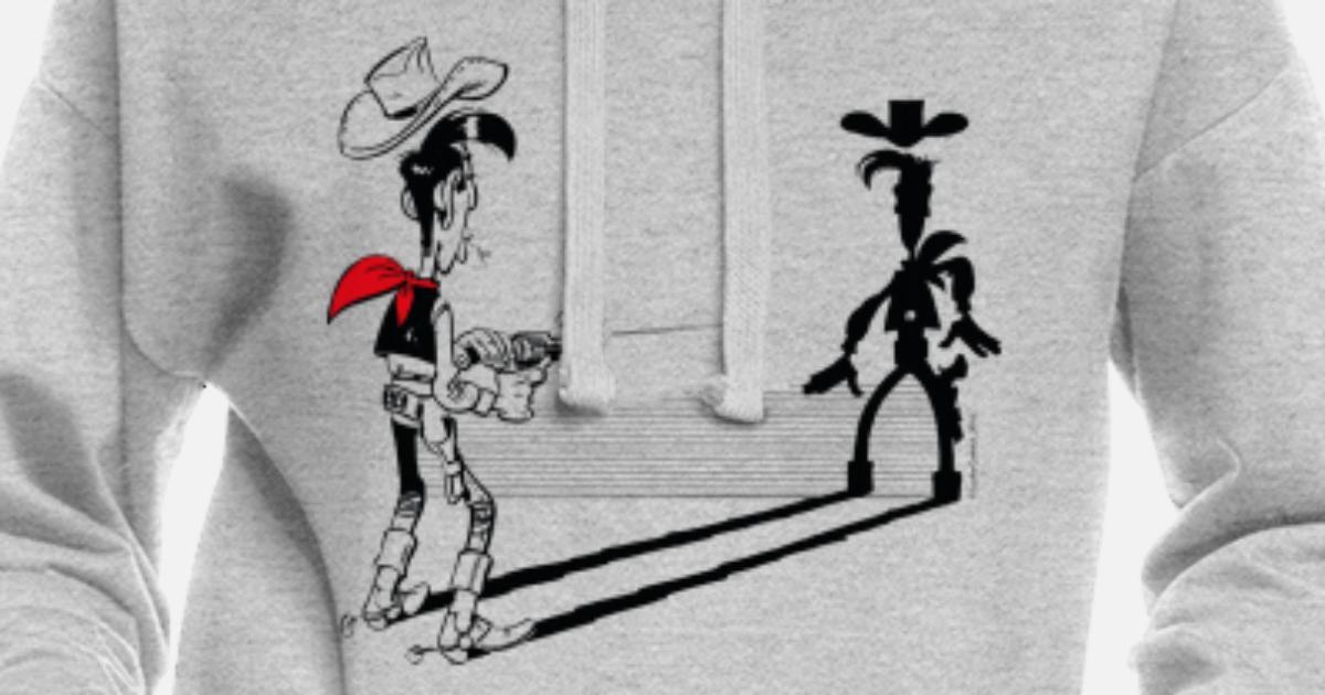 Lucky Luke Schneller als sein Schatten Frauen Hoodiekleid