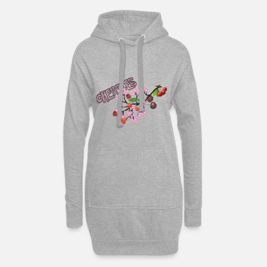 Cherry Cherries. Cherries with cherry blossoms. - Women's Hoodie Dress