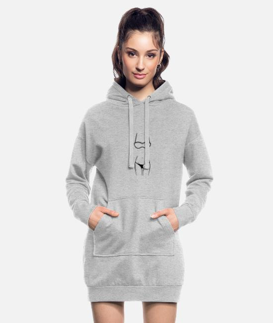 Sein Sweat-shirts - corps féminin - Robe sweat Femme gris chiné