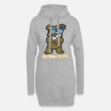 GLOBAL ELITE TEDDY GUN GOGER Ego Shooter CS GO - Hoodie klänning dam