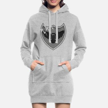 Family Crest Owls on the crest - owls on the crest - Women's Hoodie Dress
