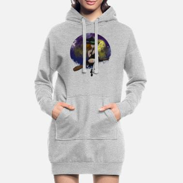 Pretty Underwear Sexy Witch Hat Full Moon Witch Witch Hat Witch Broom - Women's Hoodie Dress