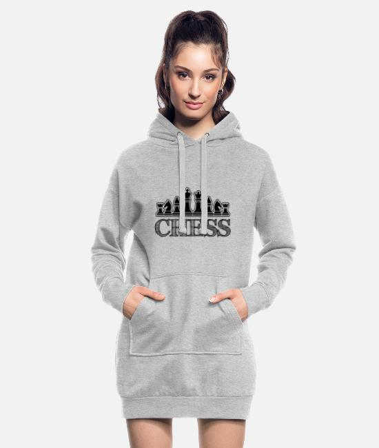 Champion Du Monde Sweat-shirts - Echecs - Echecs - Chiffres - Robe sweat Femme gris chiné