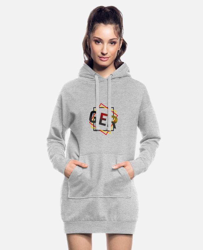 Hexagon Hoodies & Sweatshirts - Germany - Germany - Women's Hoodie Dress heather grey