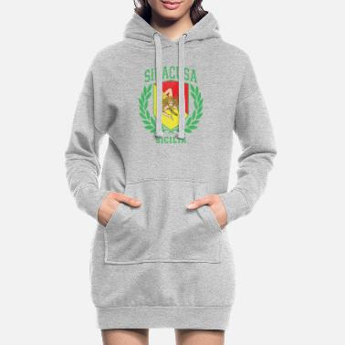 Cefalü Sicilia Flag and Shield with Trinacria - Siracusa - Women's Hoodie Dress