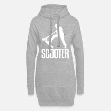 Scooter Scooter scooter - Vrouwen hoodie jurk