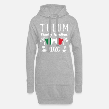 Spring Break Group Family Vacation Tulum 2020 print - Women's Hoodie Dress