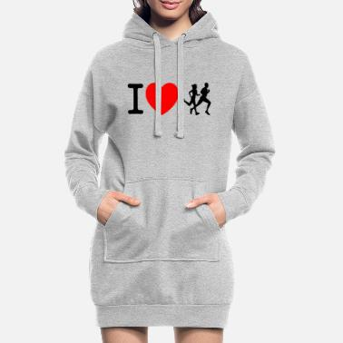 Sprinten I love racing - jogging - Women's Hoodie Dress