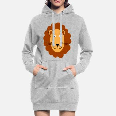 Lion Head Lion head lion head lion - Women's Hoodie Dress
