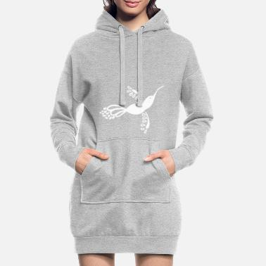 Dekoration Kolibri Fantasievogel Dekoration - Frauen Hoodiekleid