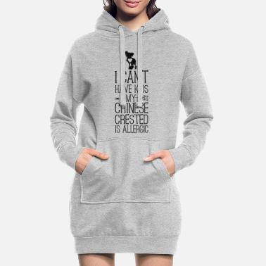 Family Crest Funny Chinese Crested Dog Mama Gift Can't Have - Women's Hoodie Dress