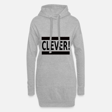 Clever Clever - Women's Hoodie Dress