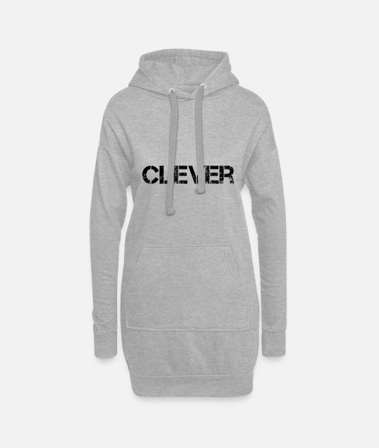 Clever Hoodies & Sweatshirts - Clever Smart - Women's Hoodie Dress heather grey