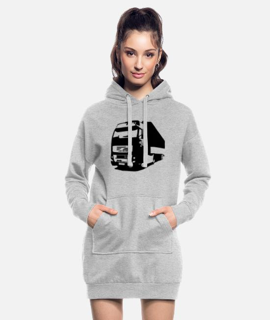 Miscellaneous Hoodies & Sweatshirts - lorry - Women's Hoodie Dress heather grey