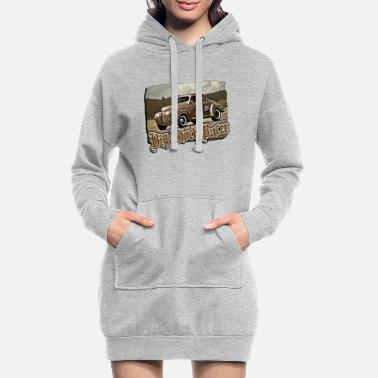 Big Block Racer - Frauen Hoodiekleid