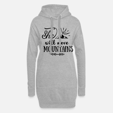 Astronaut She will move mountains - Women's Hoodie Dress