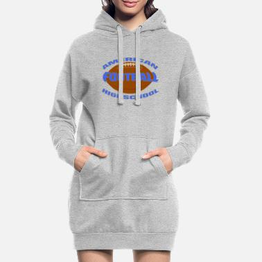 Highschool highschool football - Frauen Hoodiekleid