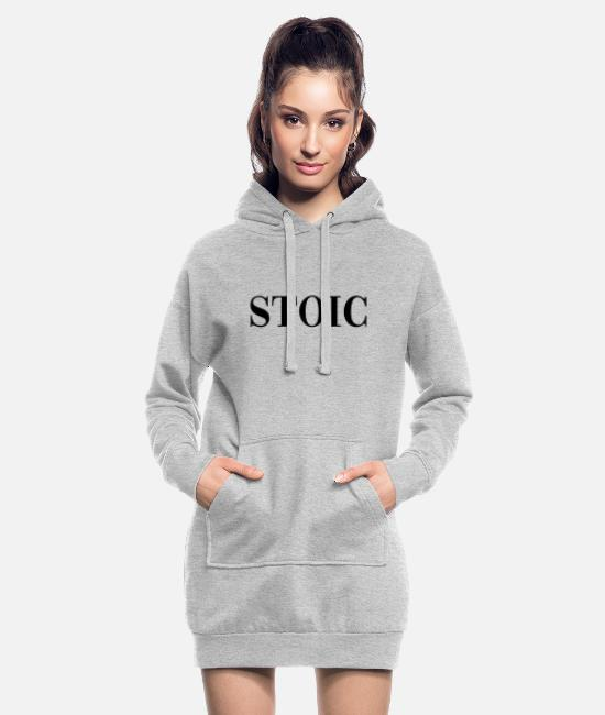 Present Hoodies & Sweatshirts - Stoic Stoa philosophy gift - Women's Hoodie Dress heather grey