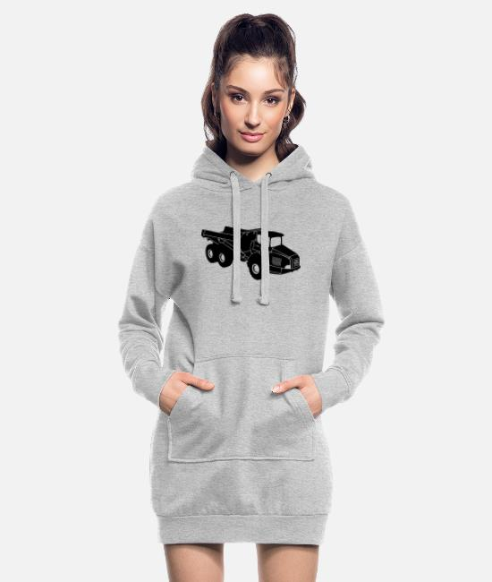 Heavy Hoodies & Sweatshirts - dumper - Women's Hoodie Dress heather grey
