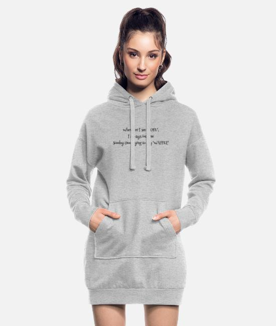 Doo Hoodies & Sweatshirts - Waffle - Women's Hoodie Dress heather grey