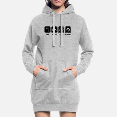 Code Eat, sleep, Code, Repeat - Frauen Hoodiekleid