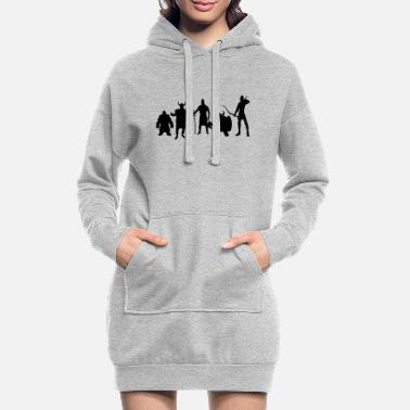 Rings fantasie - Women's Hoodie Dress