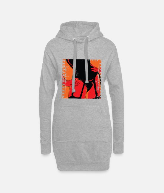 Sexy Hoodies & Sweatshirts - Girlfriend - Women's Hoodie Dress heather grey