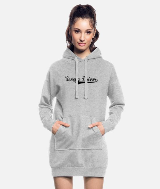 Batter Hoodies & Sweatshirts - scooby driver retro college baseball sty - Women's Hoodie Dress heather grey