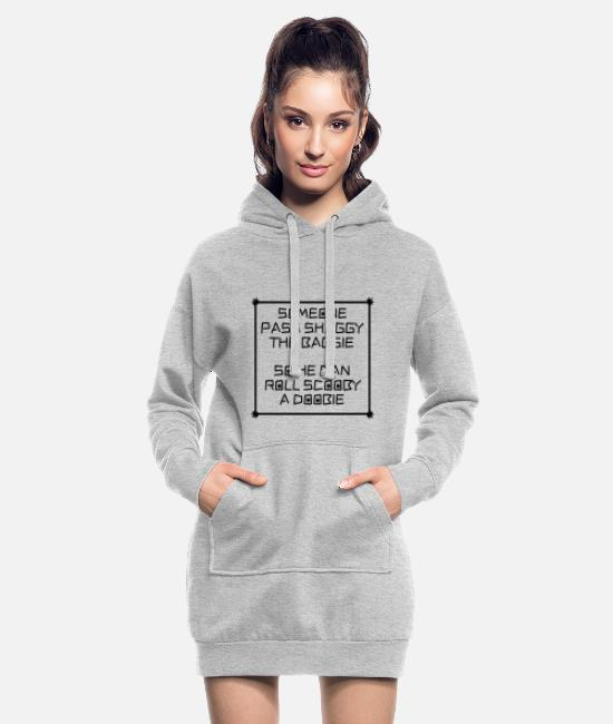 Cannabis Hoodies & Sweatshirts - Shaggie Baggie Scooby Doobie - Women's Hoodie Dress heather grey