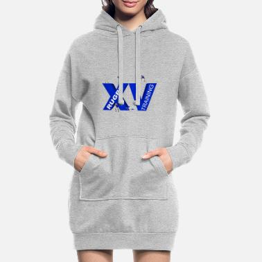 Lyon Rugby Toulousain XV TRAINING blue - Women's Hoodie Dress