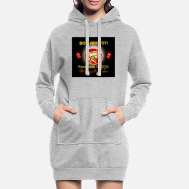❤️TteokBokki-Hot & Spicy Korean Rice Cakes - Women's Hoodie Dress