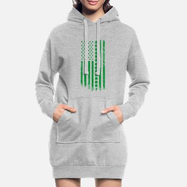 Usa VS St. Patrick's Day vlag alcohol cadeau - Vrouwen hoodie jurk
