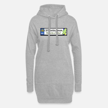 WICKLOW, IRELAND: licence plate tag style decal - Women's Hoodie Dress