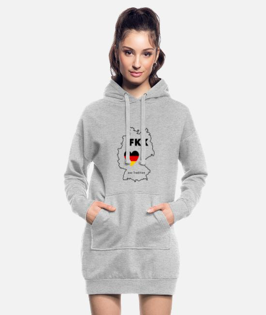 Heart Hoodies & Sweatshirts - Nudist tradition Tradition body cult in Germany - Women's Hoodie Dress heather grey
