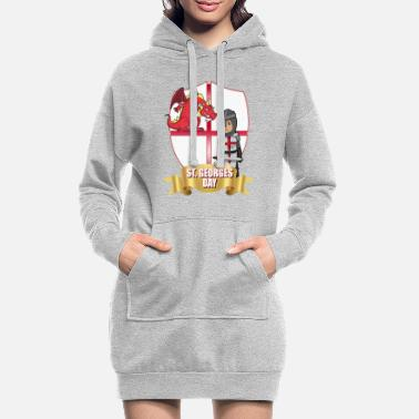 Shield St Georges Day April 23rd - Women's Hoodie Dress