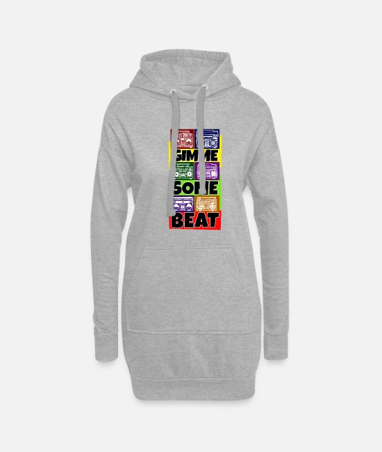 Rap Hoodies & Sweatshirts - Hip Hop Beat Deutschrap Breakdance DJ Graffiti MC - Women's Hoodie Dress heather grey