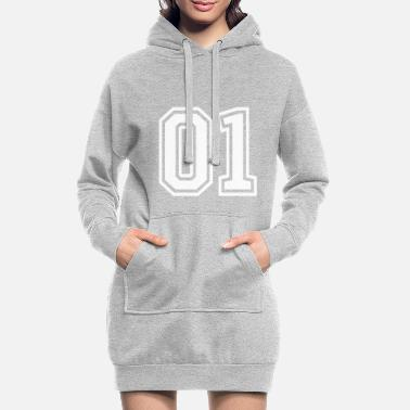Number 01 one number number - Women's Hoodie Dress