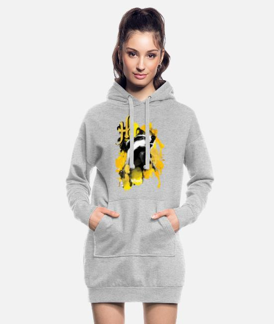 Official License Sweatshirts & hættetrøjer - Harry Potter Hufflepuff Badger - Hoodie kjole dame grå meleret