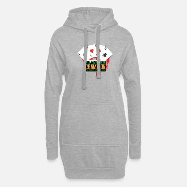 Bluff All time poker champion - Women's Hoodie Dress