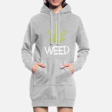 Hemp Plant / Cannabis / Cannabis Leaf / Hemp - Women's Hoodie Dress