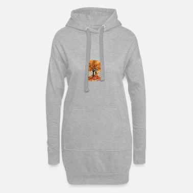 Tree Apple tree with squirrel. - Women's Hoodie Dress