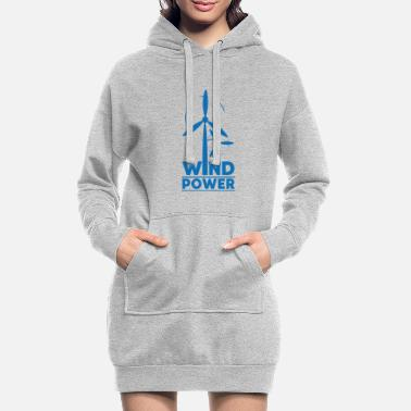 Global Wind power environmental protection gift environment - Women's Hoodie Dress