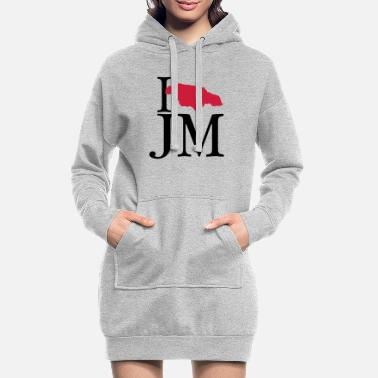 Jm I love JM - I love Jamaica - Women's Hoodie Dress