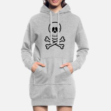 Eros & Thanatos Skull and Crossbones by Cheerful - Women's Hoodie Dress