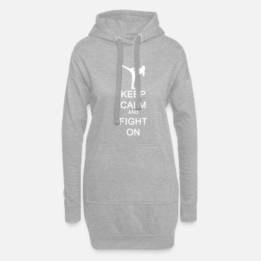 England Keep Calm and Fight On gift idea - Women's Hoodie Dress